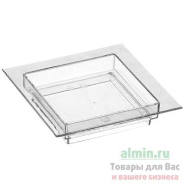 Форма фуршетная 30 мл., 70х70х15 мм., тарелка квадратная ps прозрачная Papstar