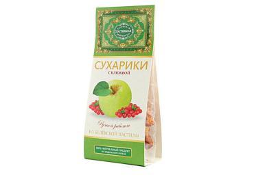 Сухарики из Белевской пастилы клюква Белевская 55 гр., пластиковый пакет
