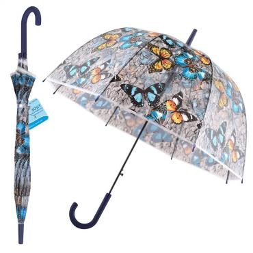 Зонт полуавтомат, диаметр 80 см., Мультидом Бал бабочек, 350 гр.