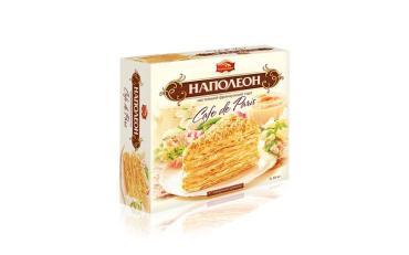 Торт слоеный Черемушки Наполеон, 640 гр., картонная коробка
