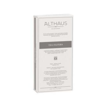 Одноразовый фильтр-пакеты для чайника. 100 шт., Althaus для заваривания листового чая, картонная коробка