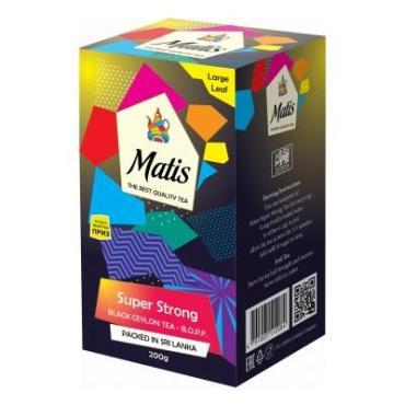 Чай черный листовой Matis Особо крепкий, 200 гр., картонная коробка
