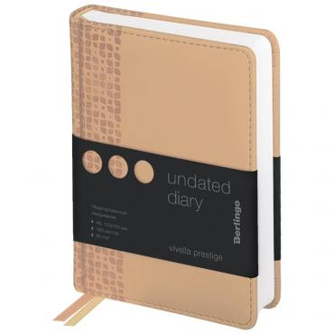 Ежедневник недатир. A6, 160л., кожзам, Berlingo Vivella Prestige, оранжевый