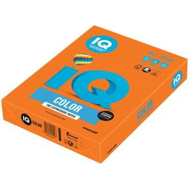 Бумага для печати IQ Color яркая оранжевая А4 80 г/м² 500 листов