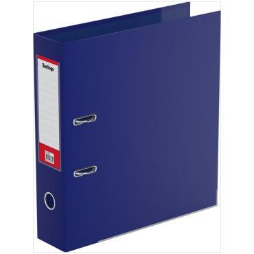 Папка-регистратор Berlingo, 70мм, двусторонний бумвинил, с карманом на кор., ниж. метал. кант, синяя