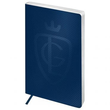 Записная книжка А5 80л. ЛАЙТ, кожзам, Greenwich Line Royal book, синий, серебр. cрез