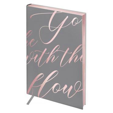 Записная книжка А5 80л. ЛАЙТ, кожзам, Greenwich Line Vision. Powder pink, срез розовая фольга