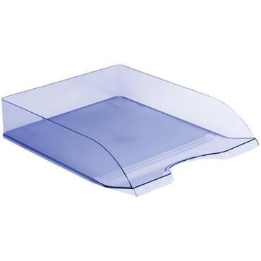 Лоток для бумаг горизонтальный Стамм Дельта, тонированный голубой