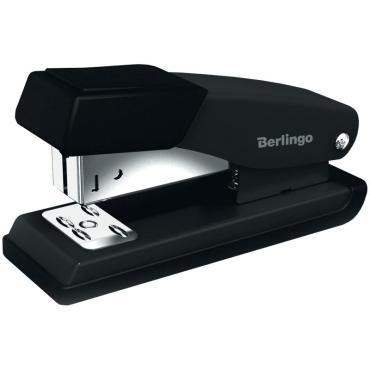 Степлер №24/6, 26/6 Berlingo Steel and Style до 20л., металлич. корпус, полузагрузочный, черный