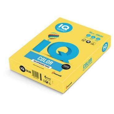 Бумага А4 канареечно-желтая IQ Color, Бумажная упаковка