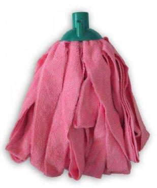 Насадка для мытья пола матерчатая микрофибра резанная Умничка, Пластиковый пакет