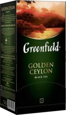 Чай черный 25 пакетиков Greenfield Golden Ceylon, картонная коробка