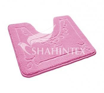 Коврик для туалета 60*50 см., розовый Shahintex ЭКО