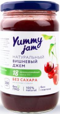 Джем вишневый без сахара Yummy, 350 гр., стекло