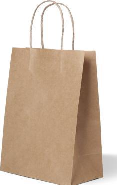 Пакеты крафт бум. с крученой ручкой, коричневый, (480+120)х450 мм, 78г/м2, 250 шт/уп