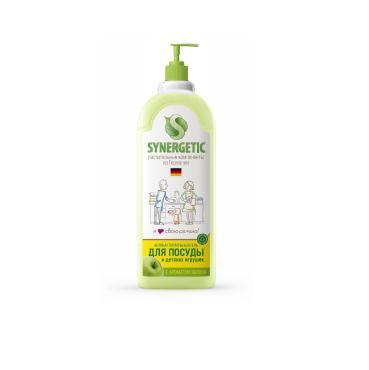 Средство для мытья посуды Яблоко ручная мойка, Synergetic, 1 л., пластиковая бутылка