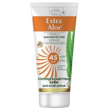 Крем солнцезащитный для всей семьи SPF45 Vilsen Extra Aloe, 100 мл., пластиковая туба
