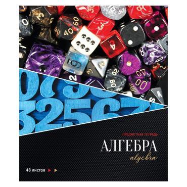Тетрадь предметная 48л. ArtSpace Сияние мысли - Алгебра, металлизация, ТВИН-лак, конгрев