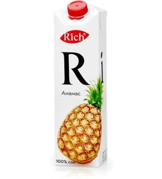 Сок ананас Rich, 1 л., тетра-пак