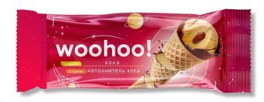 мороженое Рожок Десерт WOOHOO взбитый с аром. колы и наполнителем Кола, Нордар, 65 гр., флоу-пак
