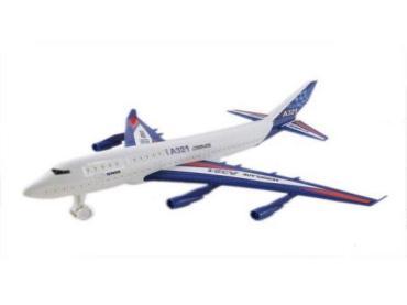 Самолет инерционный большой А321 разборный, пластиковый пакет