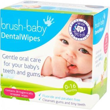 Зубные салфетки детские Brush-Baby DentalWipes