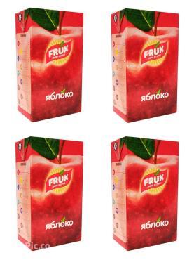 Сокосодержащий напиток яблоко FRUX, 1000 гр., тетра-пак