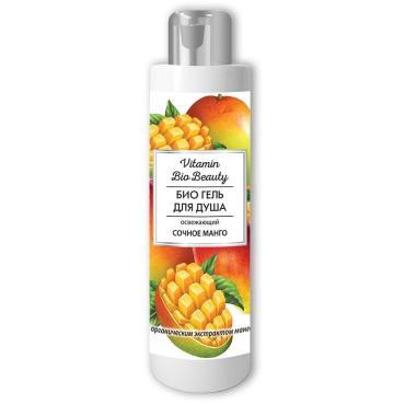 Гель для душа Сочное манго освежающий Liss Kroully Vitamin Bio Beauty, 250 мл., Пластиковая бутылка