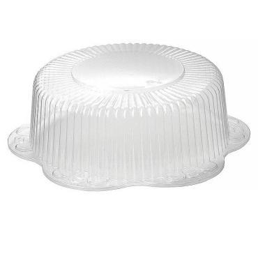 Крышка круглая прозрачная для торта на 3 кг., внешний диаметр 368 мм., высота 125 мм., внутренний диаметр 270 мм., высота 113 мм., Комус, картонная коробка
