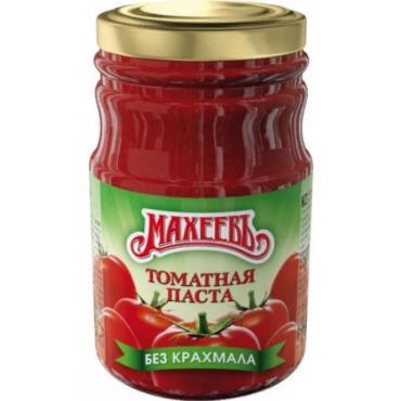 Паста томатная, Махеев, 180 гр., стекло
