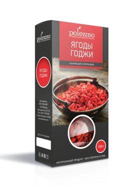 Ягоды годжи, Polezzno, 100 гр., картонная коробка