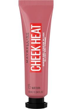 Румяна для лица, 15 нюдовый Maybelline New York Cheek Heat, 10 мл., пластиковая туба