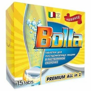 Таблетки для посудомоечных машин 15шт Bolla, картонная коробка