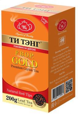 Чай золотой с эхинацеей черный Ти тэнг Fbop, 200 гр., картонная коробка