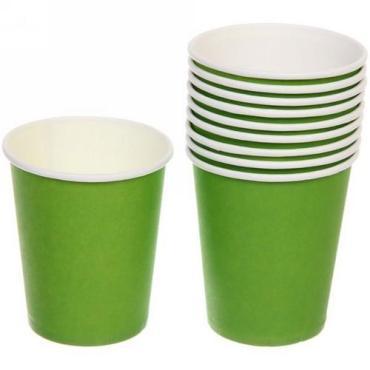 Стакан бумажный 250 мл. для горячего зеленый 50 шт., 20 упаковок