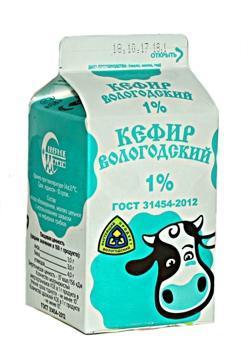 Кефир м.д.ж. 1,0%, Северное Молоко, 470 мл., пюр-пак