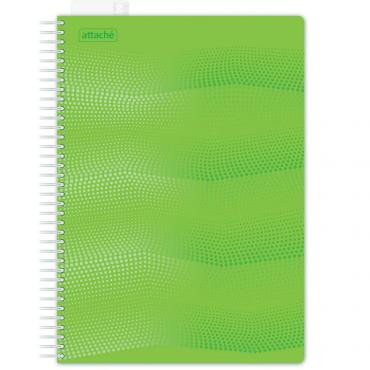 Бизнес-тетрадь WAVES А4 100л. ATTACHE клет,спир,пласт,заклад,цв.зеленый