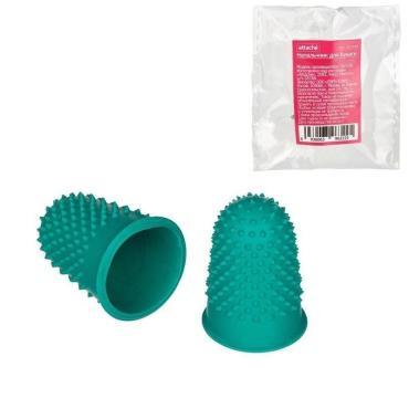 Напальчник для бумаги Attache, d=22 мм, высота 34 мм, резин., зеленый
