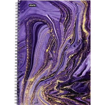 Бизнес-тетрадь А4,96л,кл,греб,ламин.обл. Attache Selection Fluid Фиолетовый