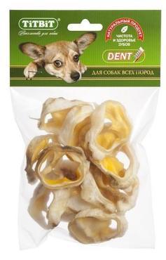 Лакомство для собак Ракушки говяжьи, TitBit, 62 гр., пластиковый пакет