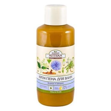 Пена для ванн, корица и цикорий Зеленая Аптека, 1 л., пластиковая бутылка