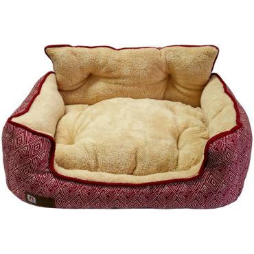Лежак (55*50*25 см.,) розовый Зоогурман Престиж