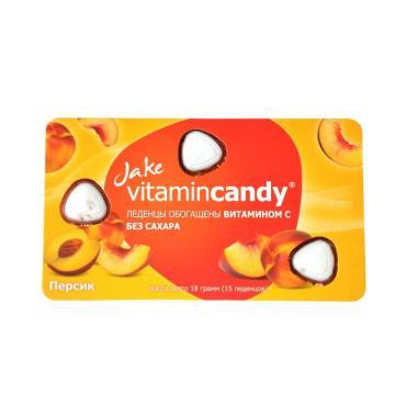 Леденцы Jake Персик, Vitamincandy, 18 гр., картон