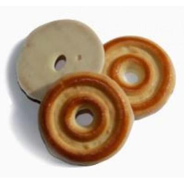 Печенье сахарное в белой глазури Моя сладкая провинция Тешки-потешки, 1,5 кг., Картонная коробка