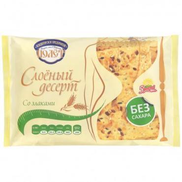 Печенье со злаками Полет Слоеный десерт 200 гр., пластиковая упаковка