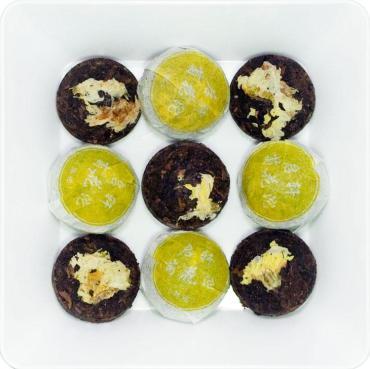 Чай пресованный пуэр с хризантемой ZellWell Мини То Ча, 100 гр., пакет из триплекса