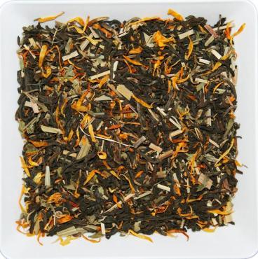 Чай красный с лимонной травой и календулой юннаньский ZellWell, 100 гр., пакет из триплекса