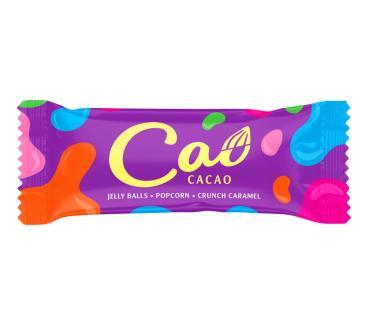 Конфеты Cao Cacao с кремовым корпусом: с мармеладом,взрывной карамелью и кукурузными хлопьями,1 кг., флоу-пак