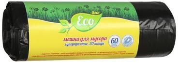 Мешки для мусора суперпрочные 60 л. 20 шт., Русалочка Eco Line, бумажная упаковка