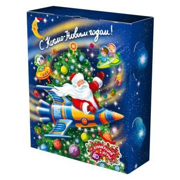 Новогодний подарок Книга малая космос Красный Октябрь 500 гр., картонная коробка